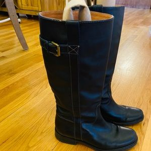 J CREW Black Leather Riding boots